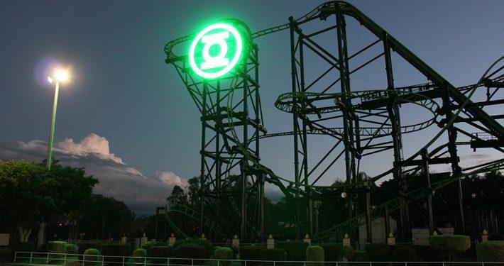 Green Lantern Movie World Roller Coaster LED Sign Digital Billboard