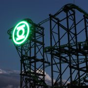 Green Lantern Movie World Roller Coaster LED Sign Digital Billboard