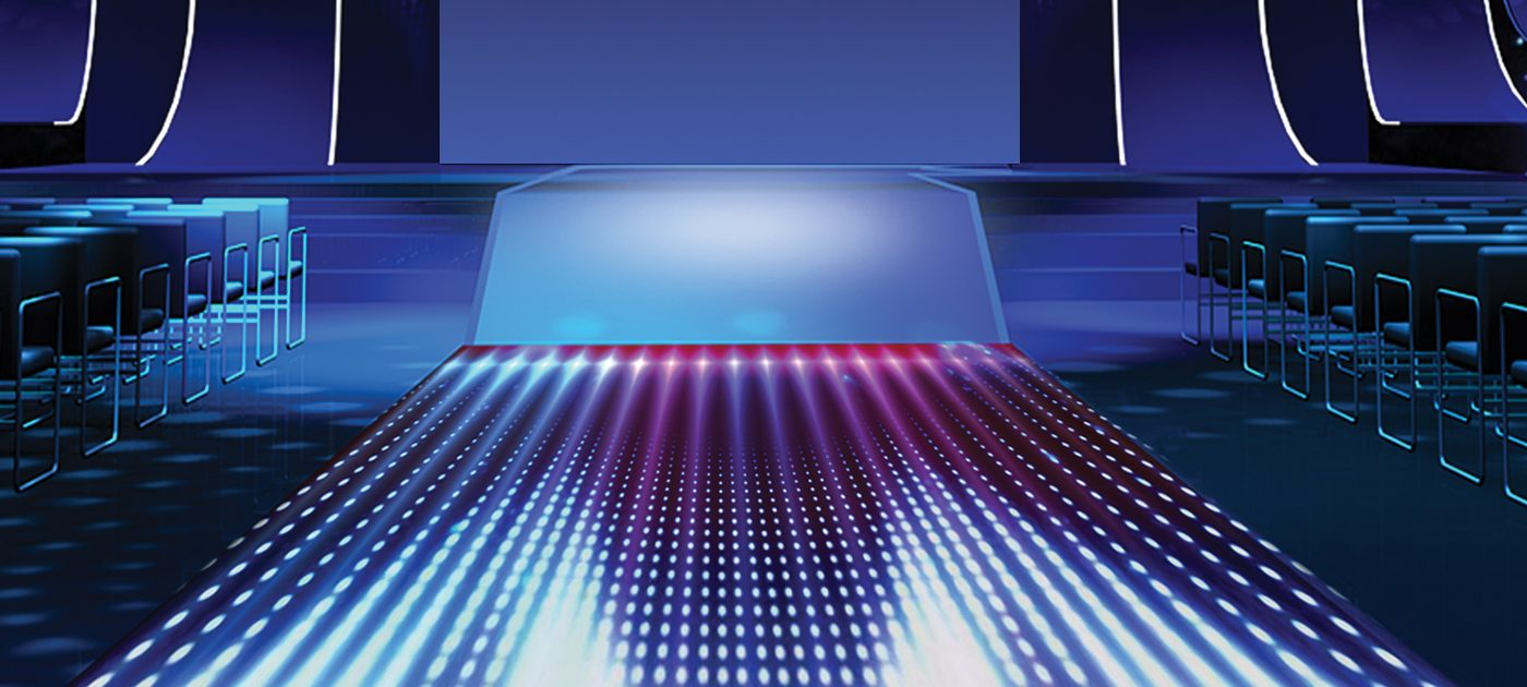 D Series LED floor graphic representation