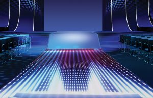 D Series LED floor graphic representation