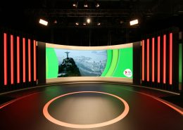 Rio Olympic Studio Curved LED Wall