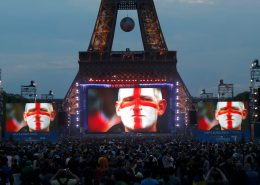 euro soccer championship Eiffel Tower Digital Scoreboard