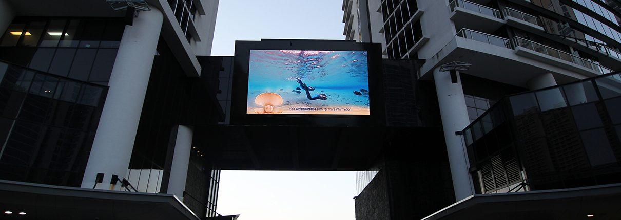 Circle on Cavil Outdoor Digital Billboard Advertising LED Sign