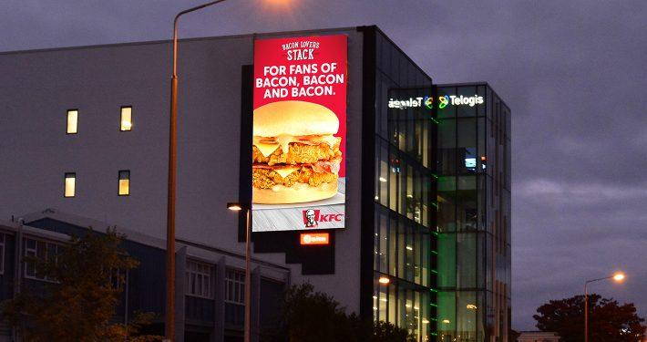 KFC Outdoor Billboard LED Screen Digital Advertising