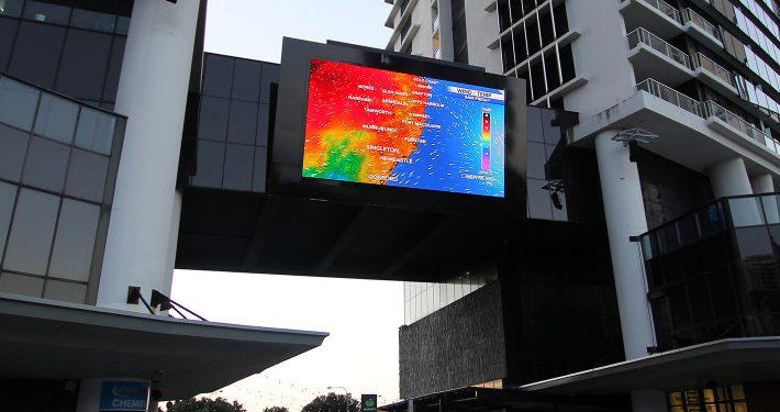 Circle on Cavil Outdoor Billboard LED Screen Digital Advertising