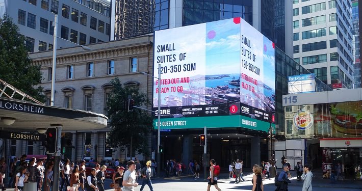 Queens Rise Building Facade LED Screen Digital Billboard Advertising