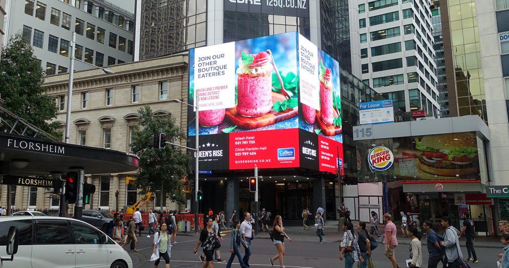 Queens Rise Building Facade LED Screen Digital Billboard Advertising