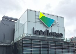Lendlease Building Facade LED Sign