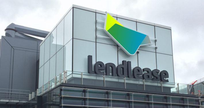 Lendlease Building Facade LED Sign