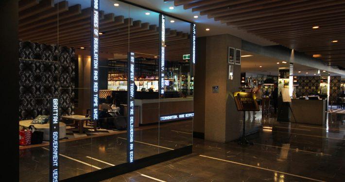 QT Hotel Mirror LED Display