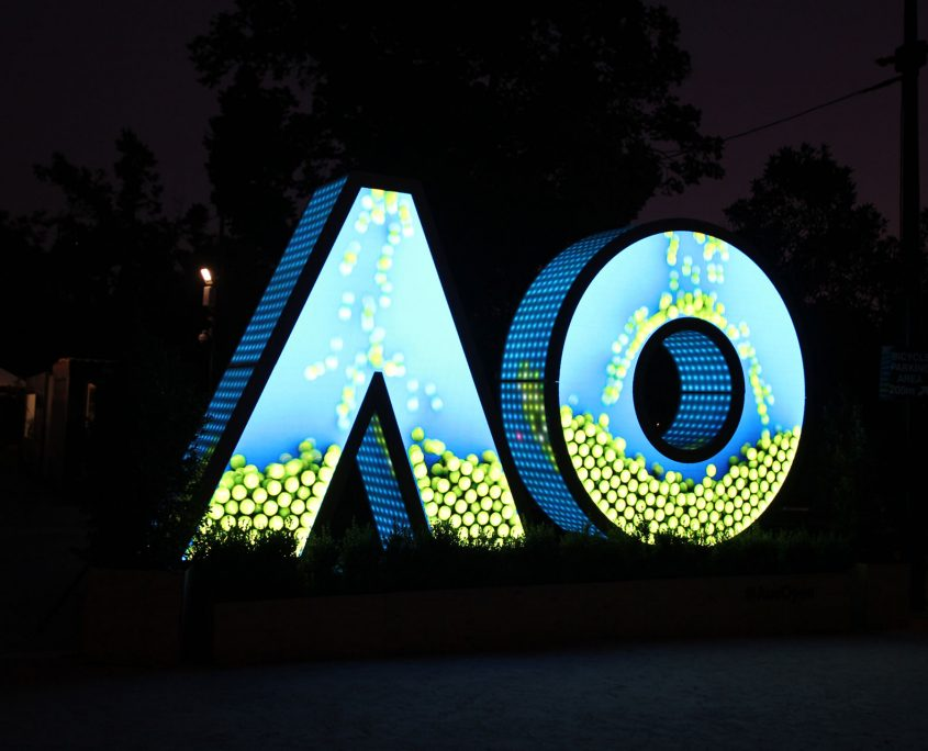 AusOpen Custom LED Sign Outdoor Digital Display Artwork