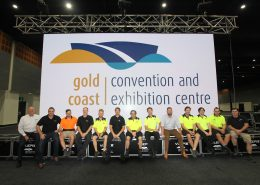 Gold Coast Convention and Exhibition Centre Team and LED Screen