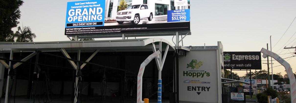 Hoppys Car Wash Digital Billboard Outdoor LED Advertising
