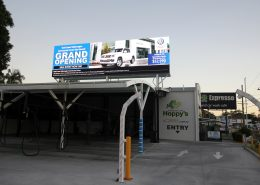 Hoppys Car Wash Digital Billboard Outdoor LED Advertising