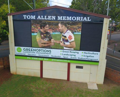 Toowoombah Tom Allen Memorial Field LED Screen Digital Scoreboard
