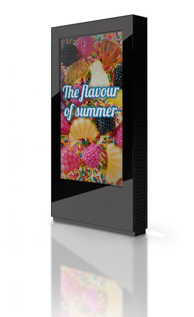 free standing lcd screen kiosk